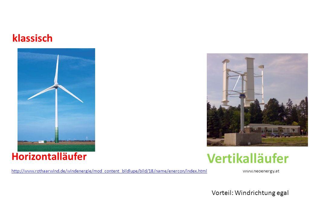 Horizontalläufer Vertikalläufer klassisch http://www.rothaarwind.de/windenergie/mod_content_bildlupe/bild/18/name/enercon/index.htmlhttp://www.rothaar