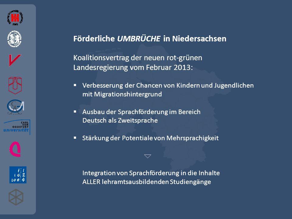 Förderliche UMBRÜCHE in Niedersachsen Koalitionsvertrag der neuen rot-grünen Landesregierung vom Februar 2013: Verbesserung der Chancen von Kindern un