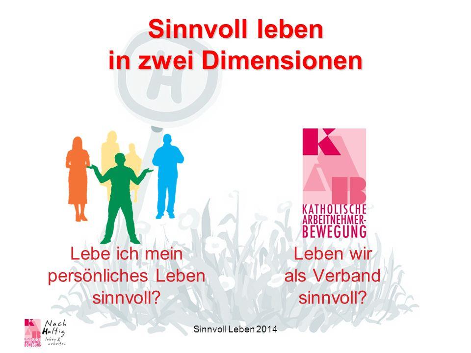 Haltestellen Symbol des Leitantrages 2012-2015 Anregung zum: –Anhalten –Aussteigen –Umschauen –Handeln –Umsteigen –Einsteigen Sinnvoll Leben 2014