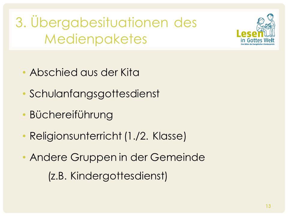 Abschied aus der Kita Schulanfangsgottesdienst Büchereiführung Religionsunterricht (1./2. Klasse) Andere Gruppen in der Gemeinde (z.B. Kindergottesdie