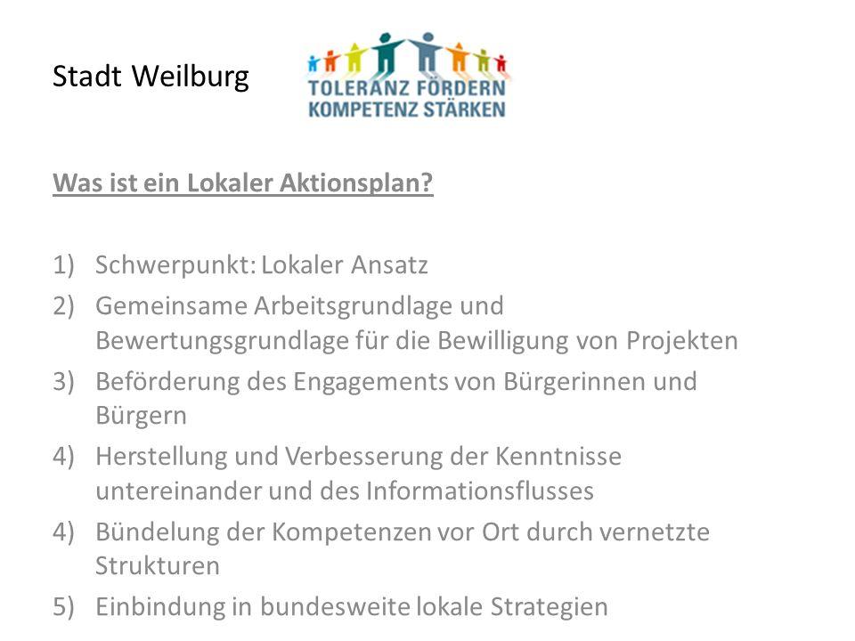 Stadt Weilburg Was ist ein Lokaler Aktionsplan.