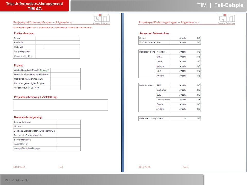 ® TIM AG 2014 Total-Information-Management TIM AG TIM | Fall-Beispiel