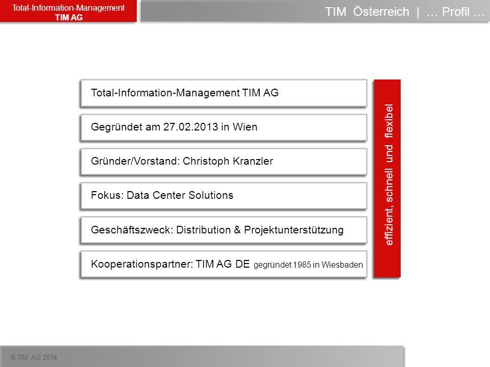 ® TIM AG 2014 Total-Information-Management TIM AG TIM Österreich | die Historie … unsere Schwester TIM.de Umsatz in Millionen pro TIM Geschäftsjahr Mio.
