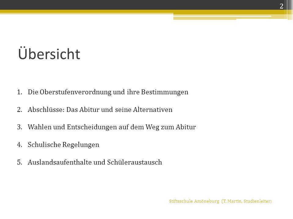 Grundkurse Belegung von Fremdsprachen und Naturwissenschaften Stiftsschule St.
