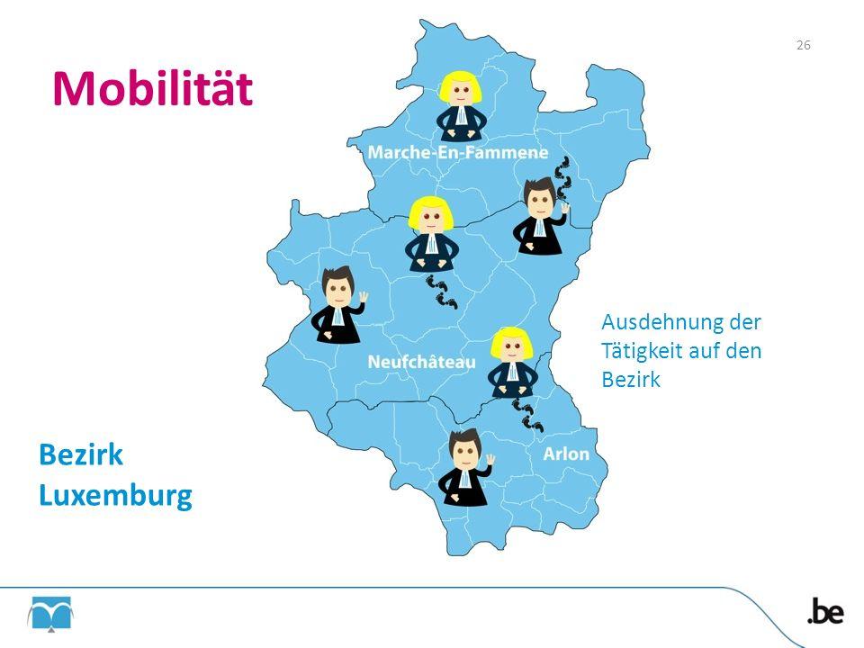 Mobilität Bezirk Luxemburg Ausdehnung der Tätigkeit auf den Bezirk 26
