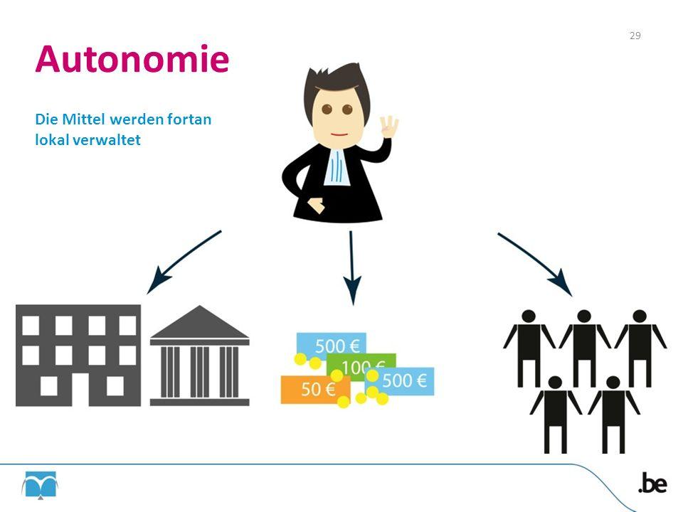 Autonomie Die Mittel werden fortan lokal verwaltet 29