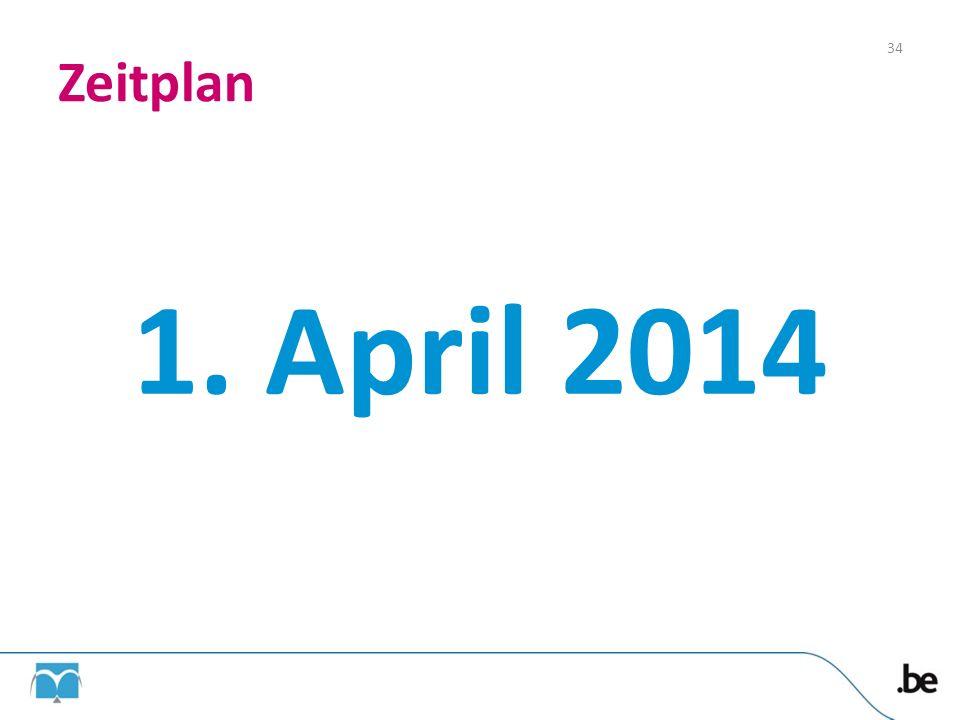 Zeitplan 1. April 2014 34