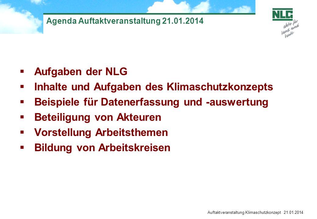 Auftaktveranstaltung Klimaschutzkonzept 21.01.2014 Maßnahmenkatalog (Bsp.)