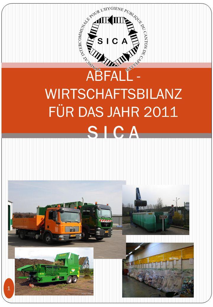 juin 2011 1 ABFALL - WIRTSCHAFTSBILANZ FÜR DAS JAHR 2011 S I C A