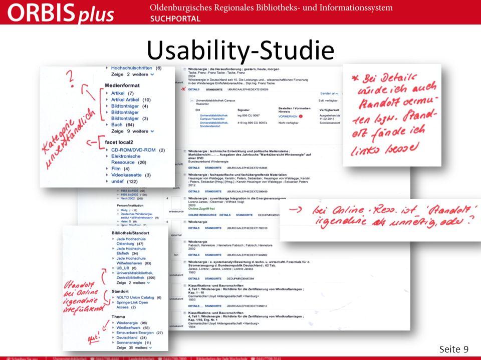 Seite 9 Usability-Studie