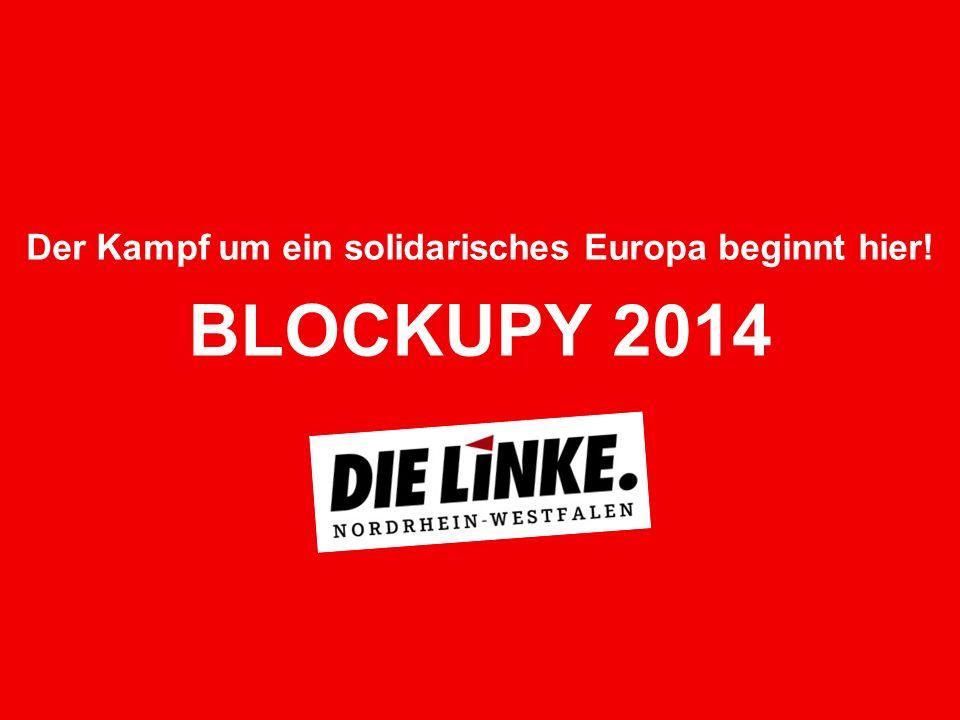 12 Die Polizei half bei der Blockade kräftig mit: Sie verstopfte 2012 durch ihre massive Präsenz die Straßen zusätzlich, sodass das Bankenviertel Frankfurts faktisch lahm gelegt war.