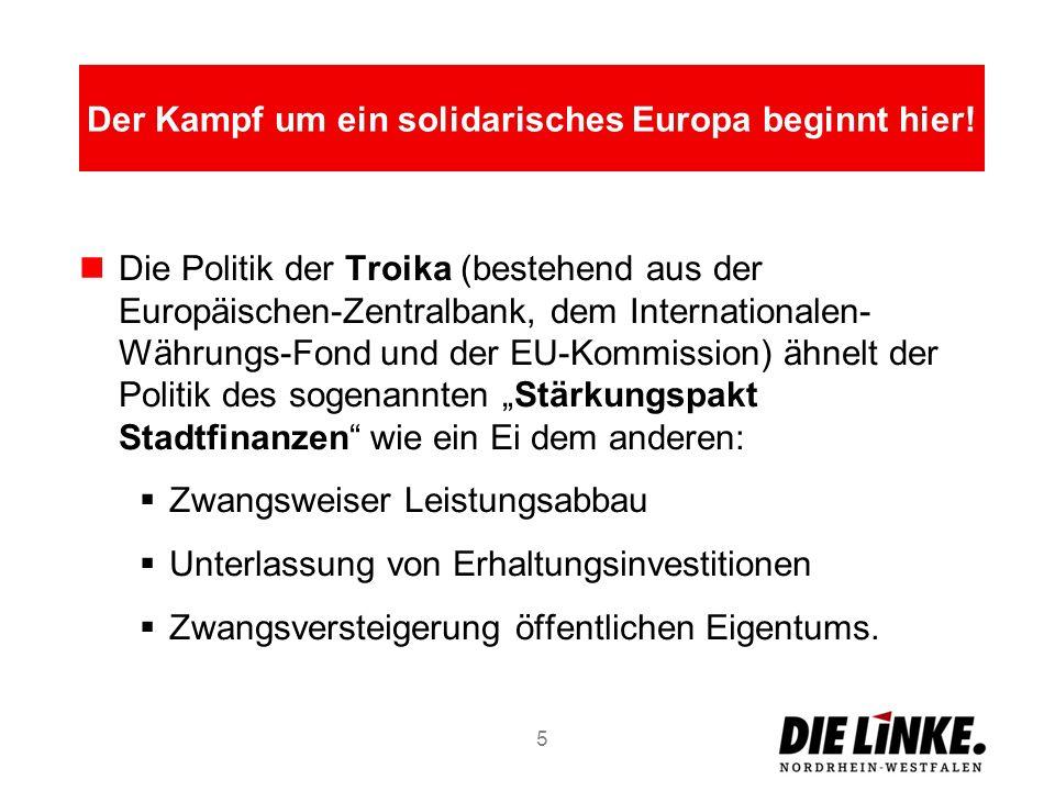 Die Politik der Troika (bestehend aus der Europäischen-Zentralbank, dem Internationalen- Währungs-Fond und der EU-Kommission) ähnelt der Politik des s