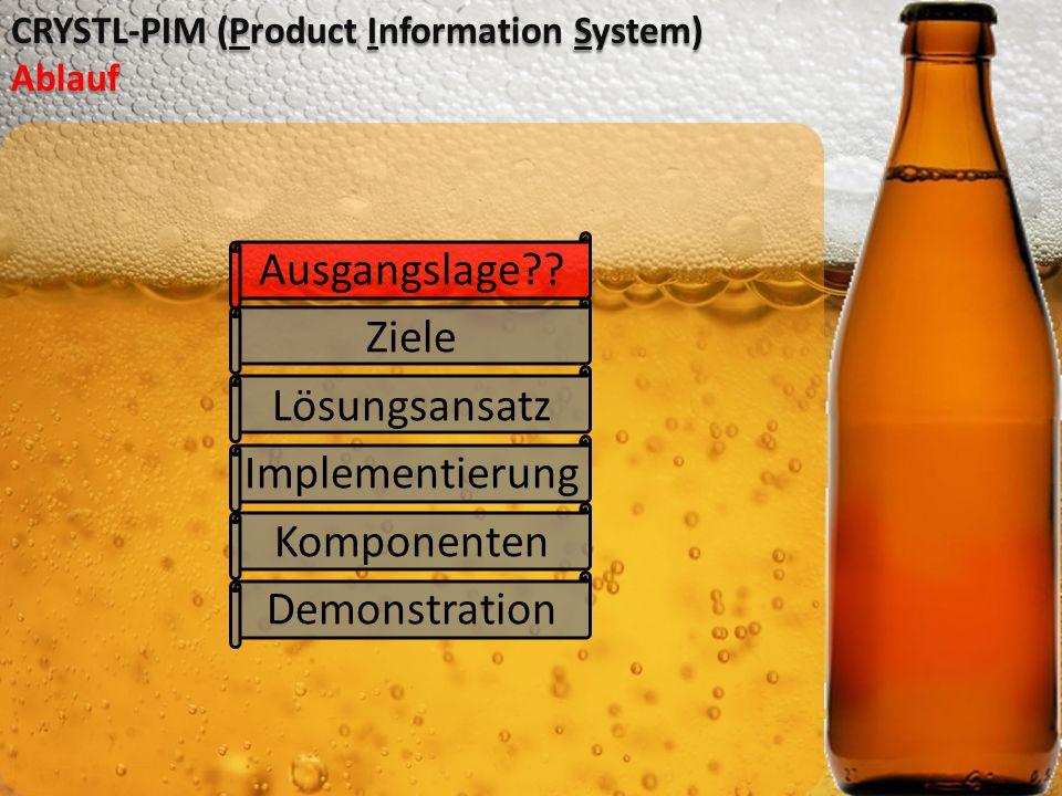 CRYSTL-PIM (Product Information System) Ablauf Ausgangslage?.