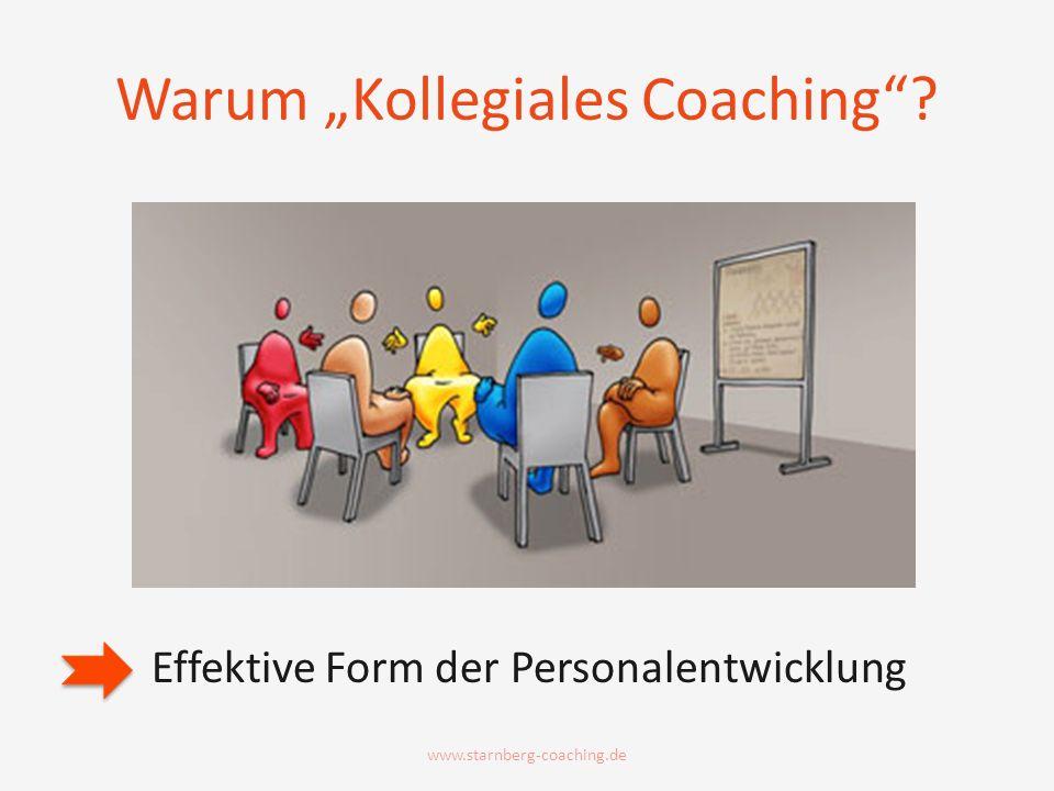 Warum Kollegiales Coaching? Effektive Form der Personalentwicklung www.starnberg-coaching.de