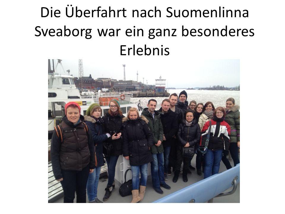 Die Überfahrt nach Suomenlinna Sveaborg war ein ganz besonderes Erlebnis