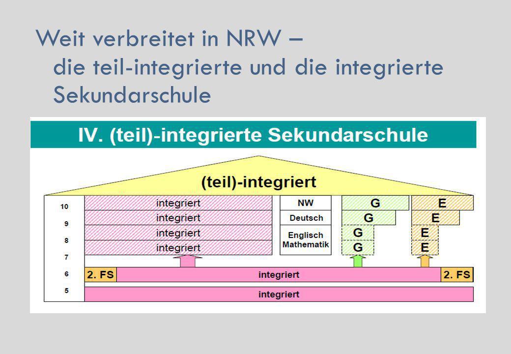 Weit verbreitet in NRW – die teil-integrierte und die integrierte Sekundarschule