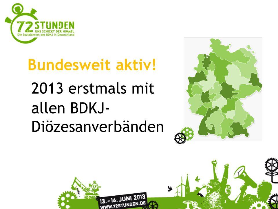 Überschrift Passender Untertitel zur Präsentation Bundesweit aktiv! 2013 erstmals mit allen BDKJ- Diözesanverbänden
