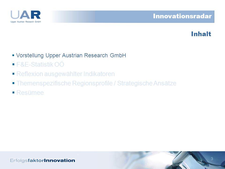 4 Die Upper Austrian Research GmbH ist eine Tochtergesellschaft der OÖ Innovationsholding GmbH.