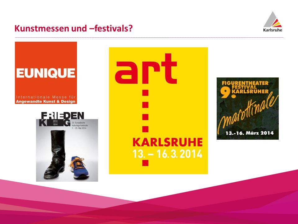 Kunstmessen und –festivals?