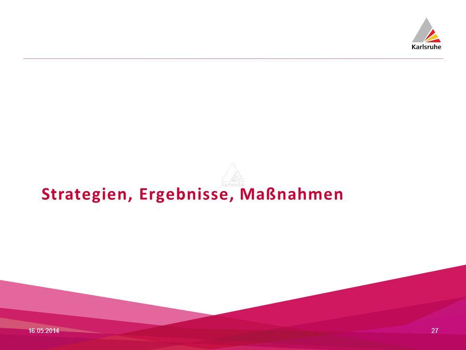 Strategien, Ergebnisse, Maßnahmen 16.05.201427