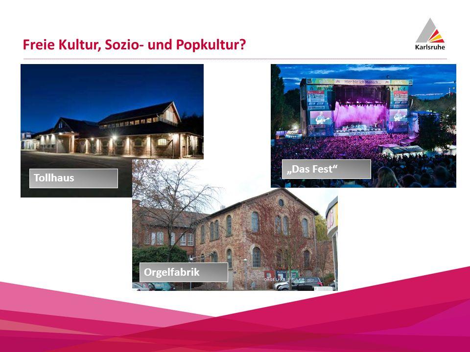 Freie Kultur, Sozio- und Popkultur? Orgelfabrik Tollhaus Das Fest