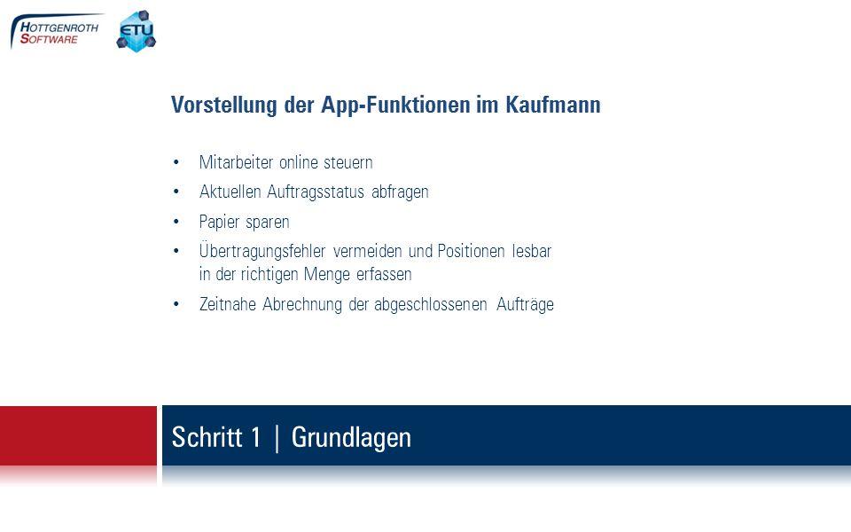 Schritt 1   Grundlagen Vorstellung der App – was ist erforderlich.