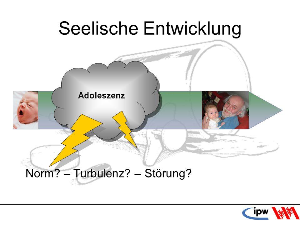 37 Seelische Entwicklung Adoleszenz Norm? – Turbulenz? – Störung?