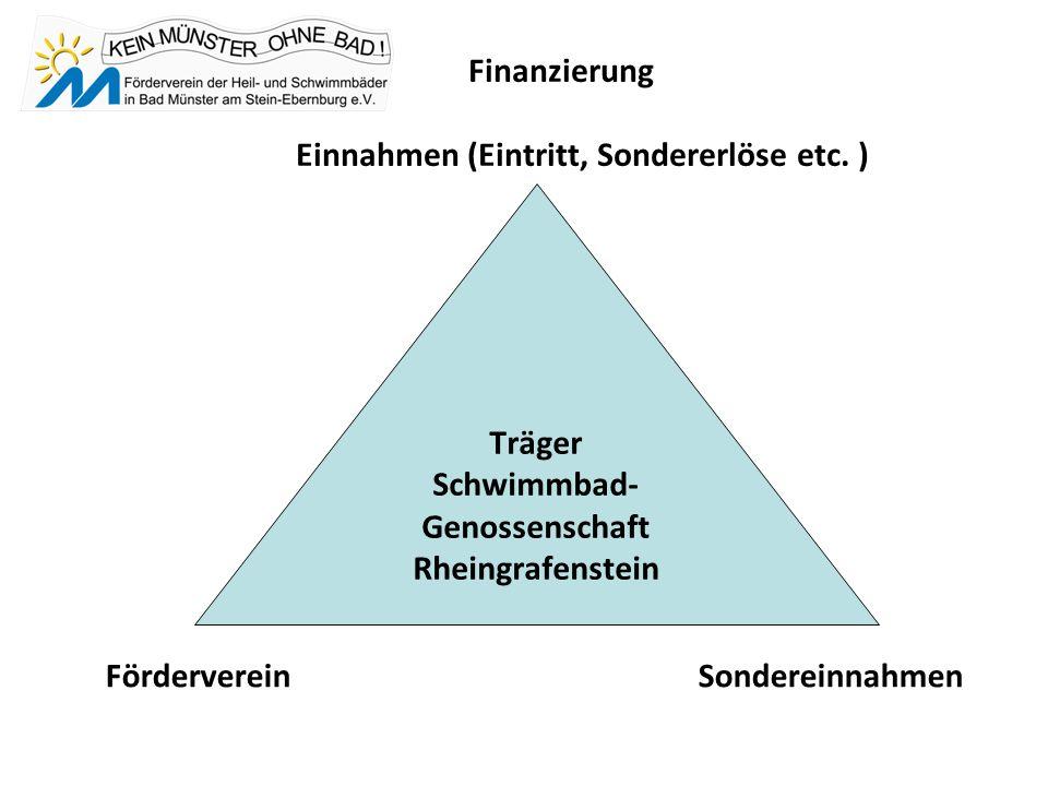 Finanzierung Einnahmen (Eintritt, Sondererlöse etc.