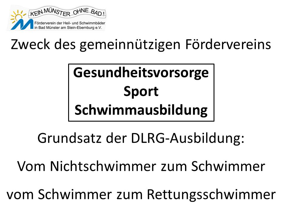 Die Alternative: KEIN BAD in Bad Münster a. St.- Ebernburg Bad Münster a. St.- Ebernburg OHNE BAD