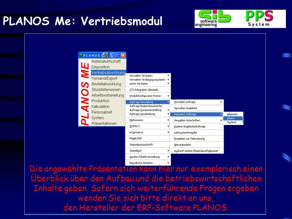 PLANOS Me: Vertriebsmodul Auftragsverwaltung – Anzeige der Auftragspositionen Nach dem Erfassen der Auftragskopfdaten werden im Änderungsfalle die bereits erfassten Posi- tionsdaten in einem Scroll- bereich angerollt.
