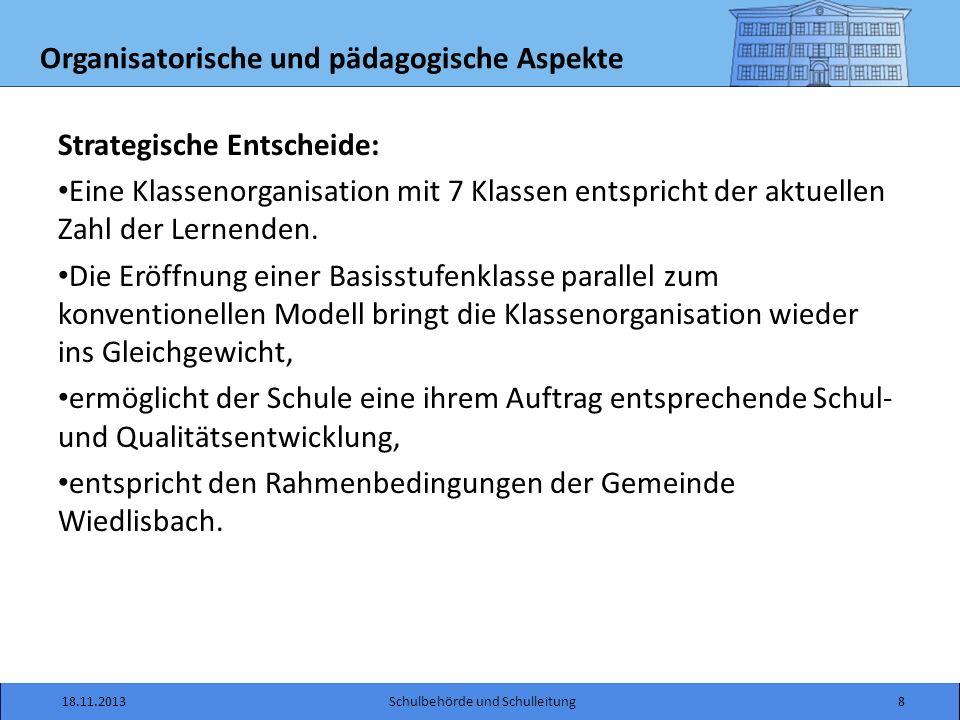 Arbeitsgruppe Informationsfluss 18.11.2013Schulbehörde und Schulleitung19 Schuko SL Eltern /Öffentlichkeit Lehrerkollegium Schule