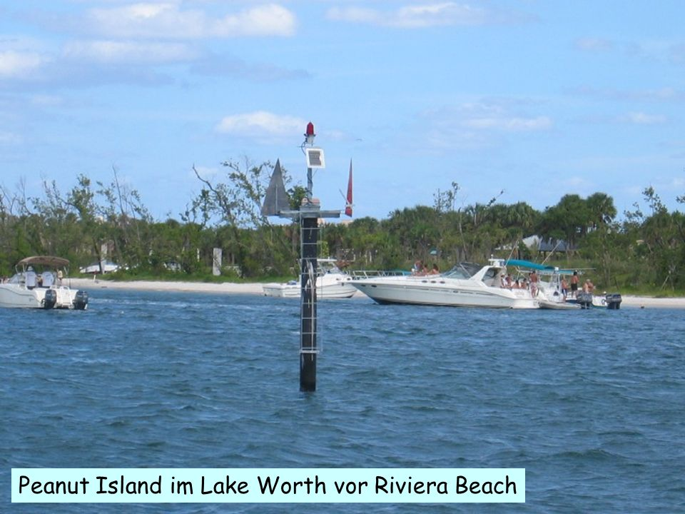 .. Peanut Island im Lake Worth vor Riviera Beach