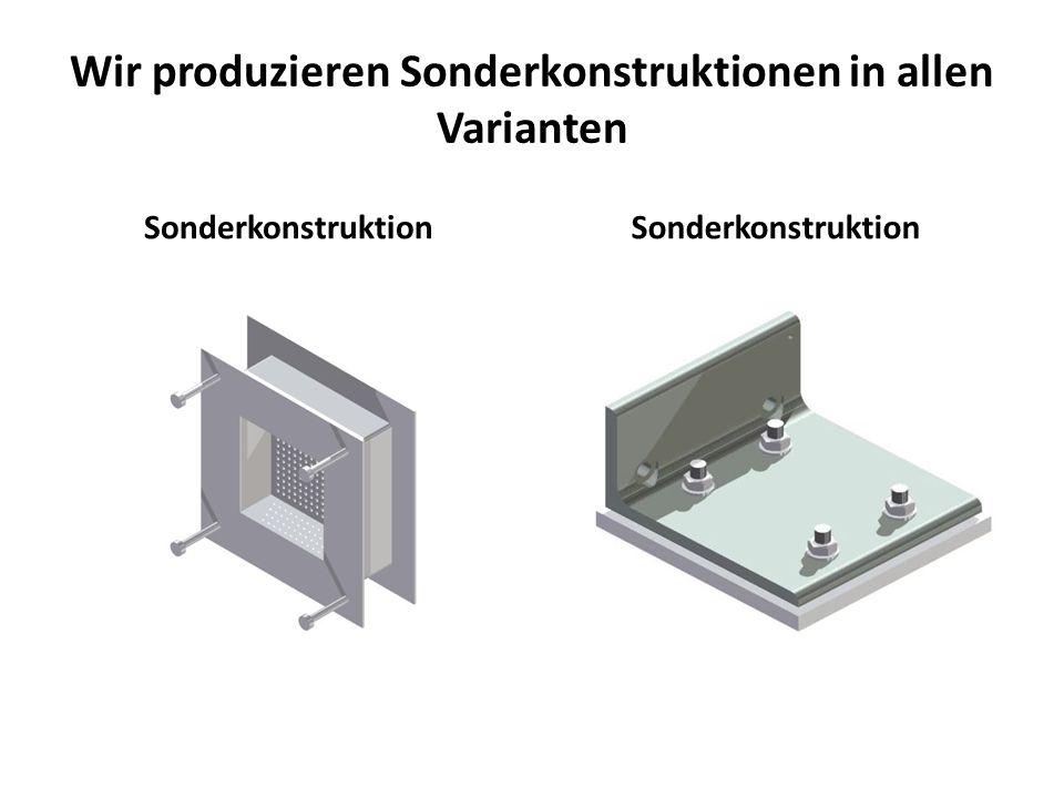 Wir produzieren Sonderkonstruktionen in allen Varianten Sonderkonstruktion