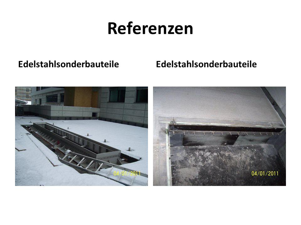 Referenzen Edelstahlsonderbauteile