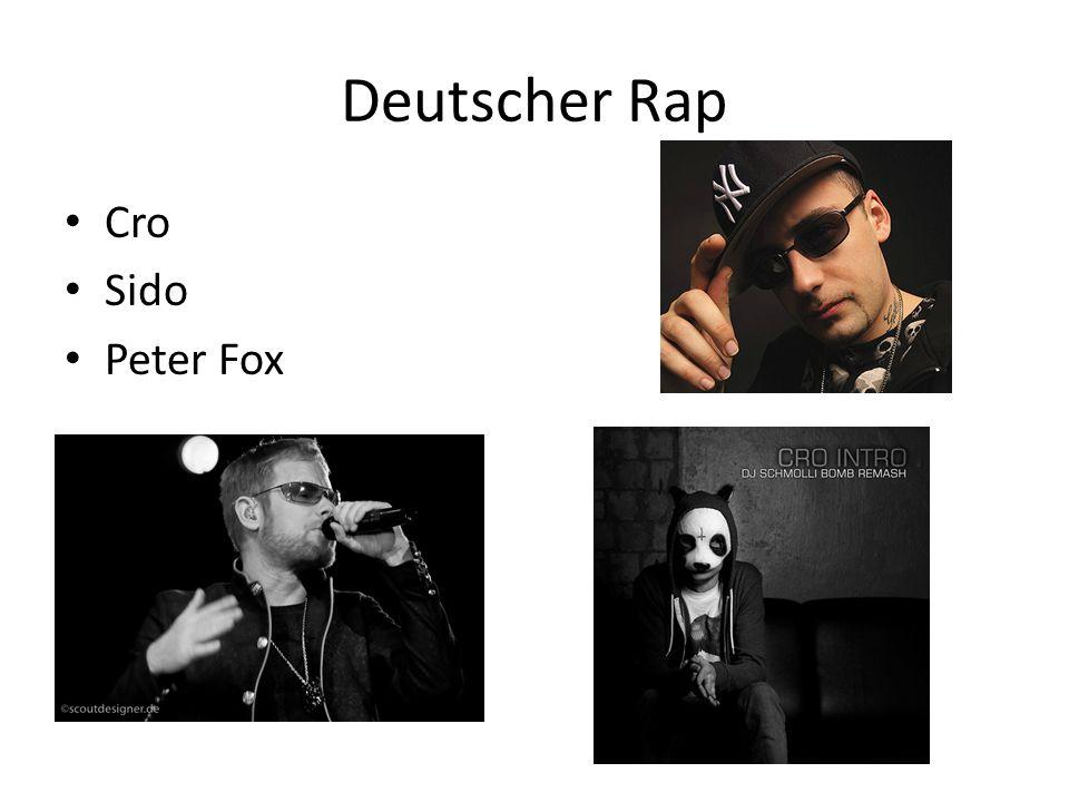 Deutscher Rap Cro Sido Peter Fox