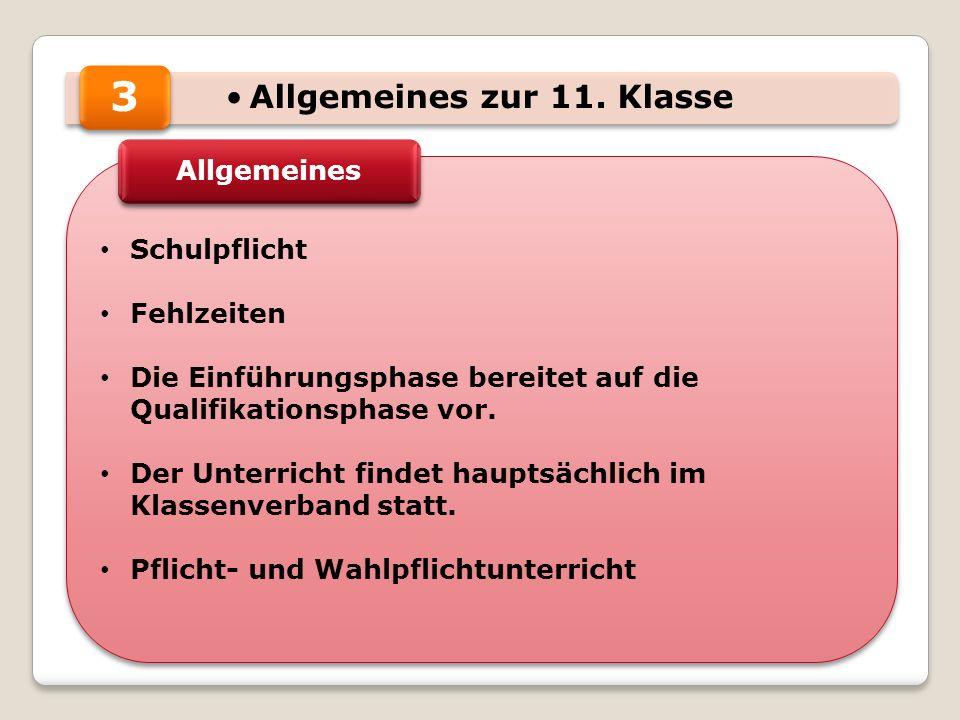 Allgemeines zur 11.