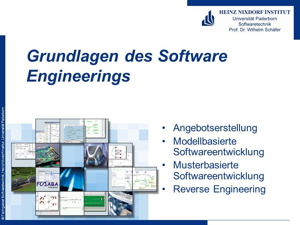 © Fachgebiet Softwaretechnik, Heinz Nixdorf Institut, Universität Paderborn Angebotserstellung Modellbasierte Softwareentwicklung Musterbasierte Softw