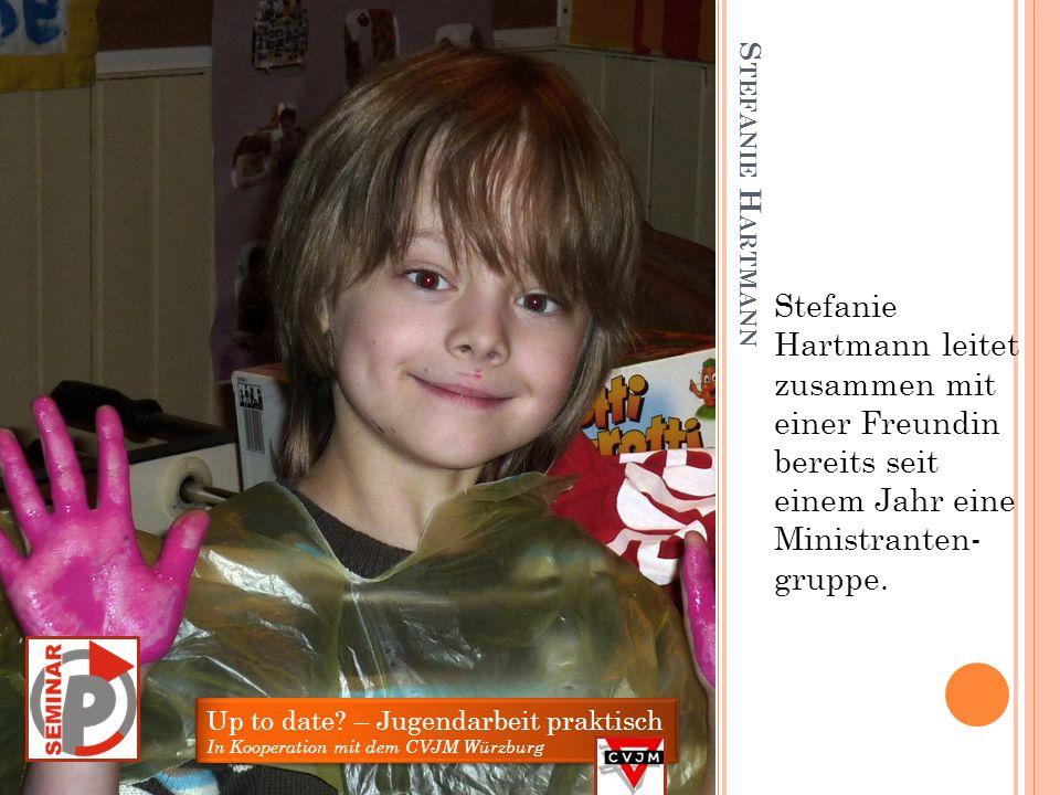 M ARA E MMERLING Mara Emmerling hat bei einer Kinderferien- woche des CVJM Würzburg mitgearbeitet.
