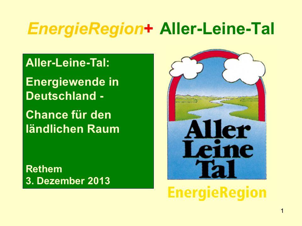 11 EnergieRegion+ Aller-Leine-Tal Aller-Leine-Tal: Energiewende in Deutschland - Chance für den ländlichen Raum Rethem 3.