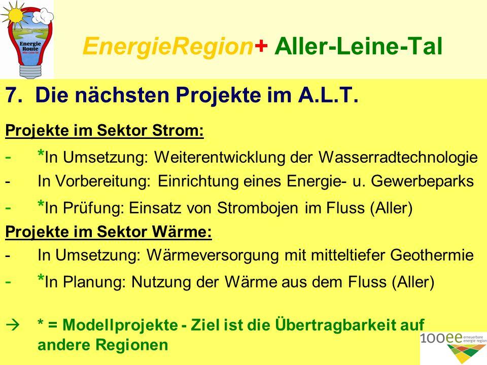 EnergieRegion+ Aller-Leine-Tal 7. Die nächsten Projekte im A.L.T.