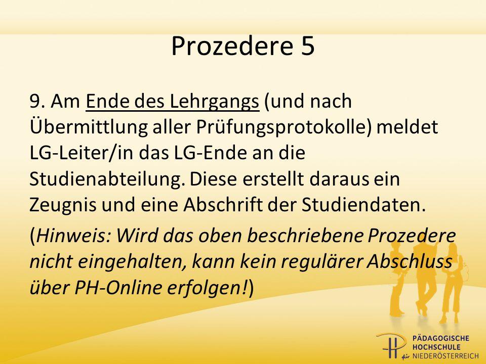 Prozedere 5 9.
