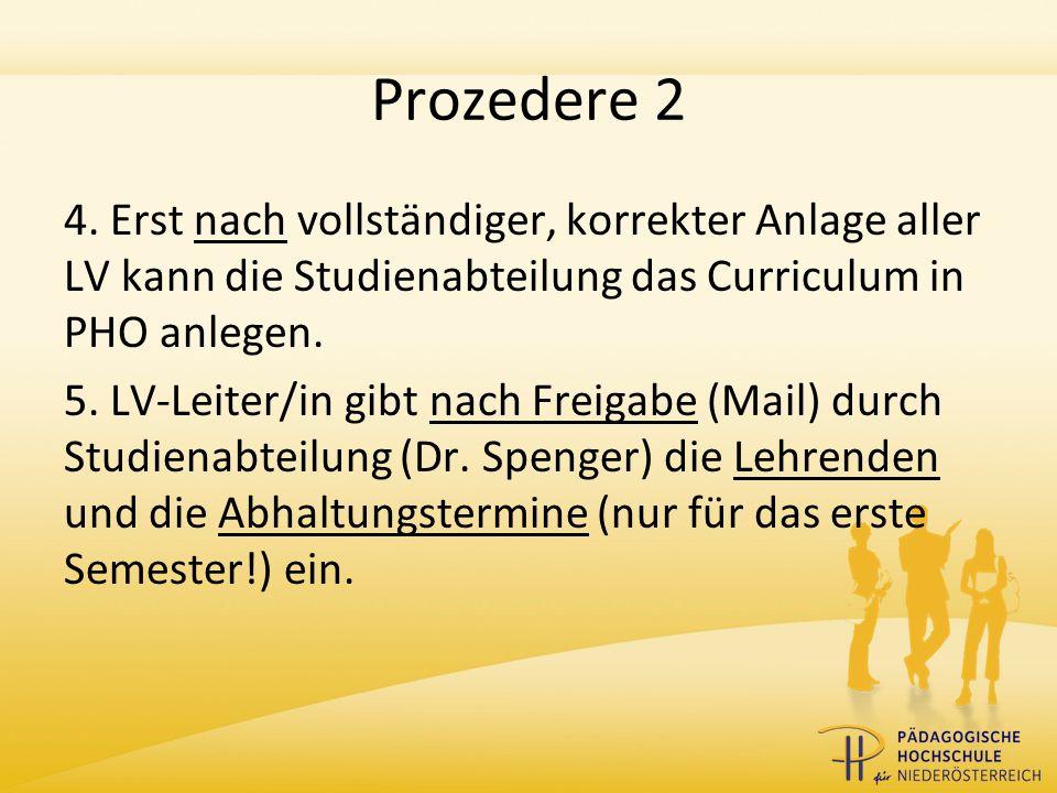 Prozedere 3 6.