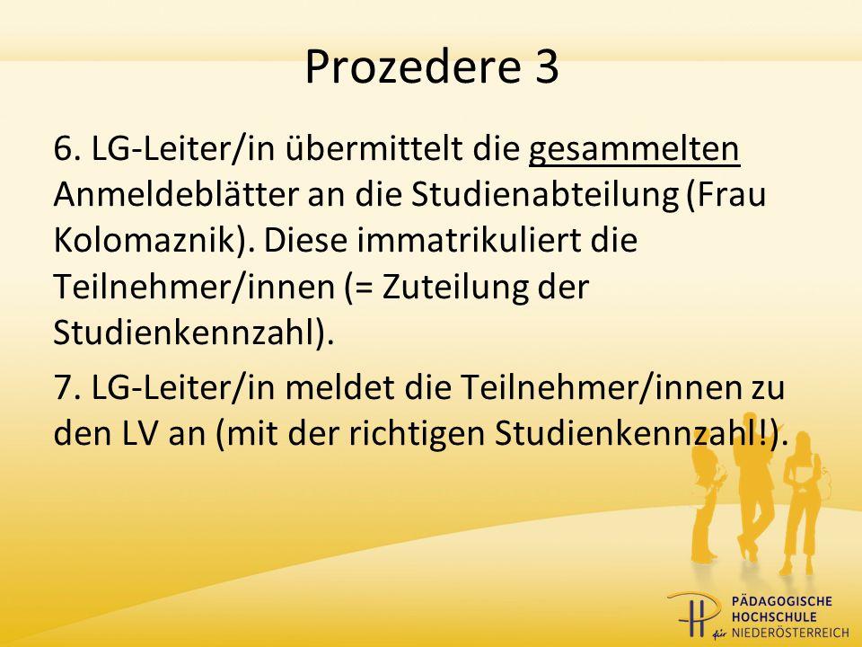 Prozedere 4 8.