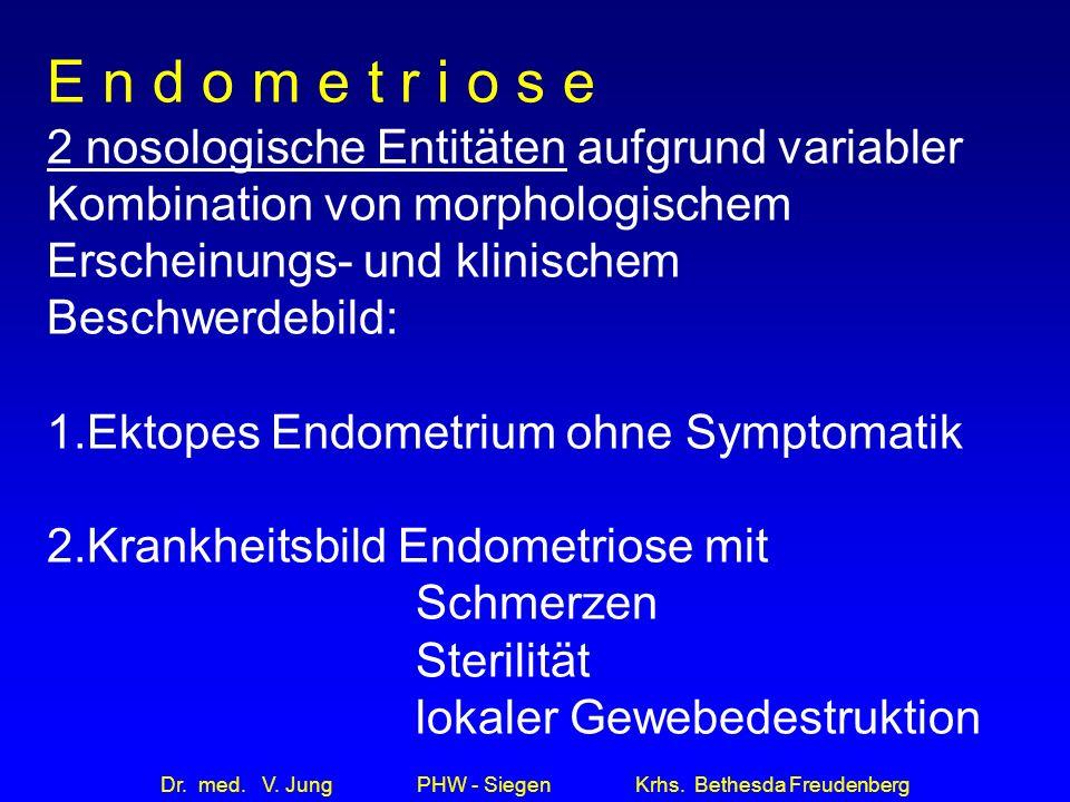Dr.med. V. Jung PHW - Siegen Krhs. Bethesda Freudenberg Medikamentöse Therapie 1.