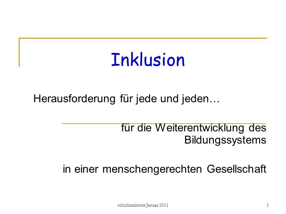 2 1.Was bedeutet Inklusion. 2. Die Ursprünge und der internationale Druck 3.