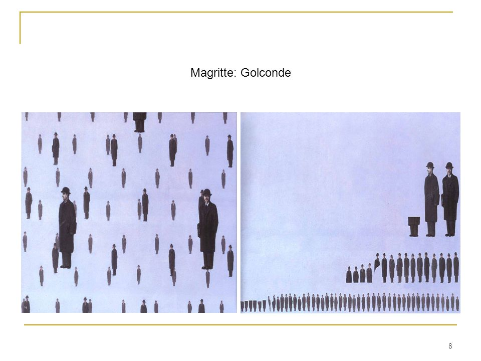 8 Magritte: Golconde