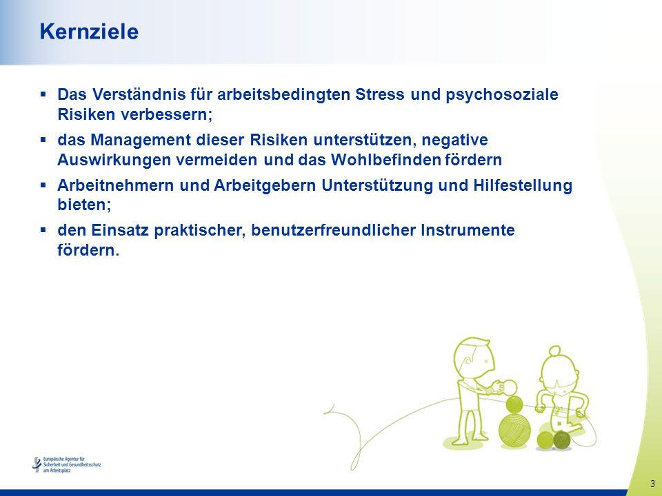 4 www.healthy-workplaces.eu Das Ausmaß des Problems Über die Hälfte der Arbeitnehmer in Europa gibt an, dass Stress an ihrem Arbeitsplatz häufig auftritt.