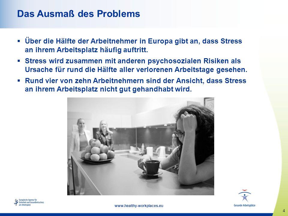 5 www.healthy-workplaces.eu Definitionen Psychosoziale Risiken werden u.a.