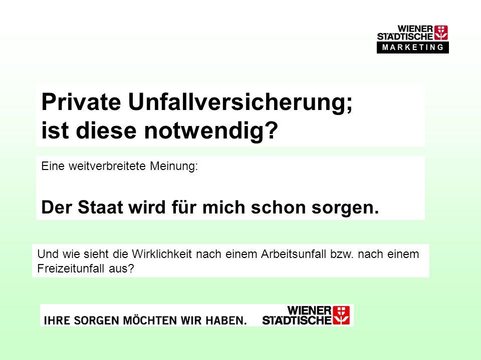 in Österreich Unfallversicherung