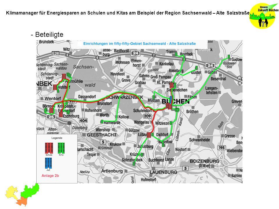 - Beteiligte Klimamanager für Energiesparen an Schulen und Kitas am Beispiel der Region Sachsenwald – Alte Salzstraße